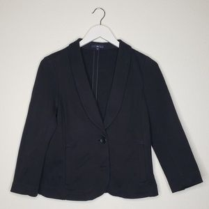 Gap Black Knit Two Button Blazer